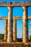 Poseidon temple in Greece Royalty Free Stock Photography