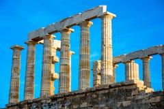 Poseidon temple in Greece Stock Photo