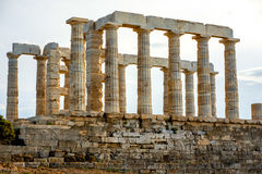 Poseidon temple in Greece Stock Images