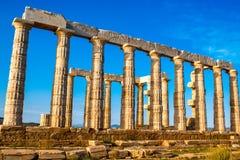 Poseidon temple in Greece Stock Image