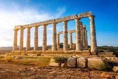 Poseidon temple in Greece Royalty Free Stock Photo