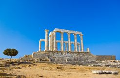 Poseidon Temple near Athens, Greece Royalty Free Stock Photo