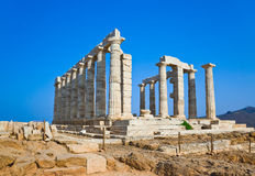 Poseidon Temple near Athens, Greece Royalty Free Stock Photos