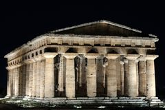 Poseidon Temple, Paestum Royalty Free Stock Photos
