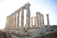 Poseidon Temple. At Sounio , Athens Royalty Free Stock Image