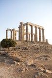 Poseidon Temple. At Sounio , Athens Royalty Free Stock Photography