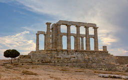 Poseidon temple, Sounio, Greece Stock Photography