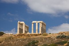 Poseidon Temple Sounion Stock Photo