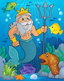 Poseidon theme image 2. Eps10 vector illustration Stock Photos