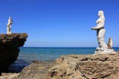 Poseidon u. Meerjungfrau Lizenzfreies Stockfoto