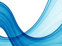 Poseidon waves. Blue abstract waves on white background, hq render Stock Photography