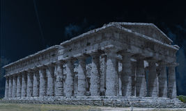 Poseidone Temple of the night Royalty Free Stock Images
