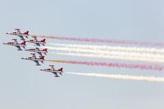 POSEN, POLEN - 14. JUNI: Aerobatic Gruppenbildung Stockbild