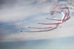 POSEN, POLEN - 14. JUNI: Aerobatic Gruppenbildung Lizenzfreies Stockbild