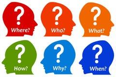 Poser des questions illustration de vecteur