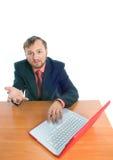 poser la question d'homme d'affaires Photographie stock libre de droits