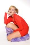 posera att sitta Royaltyfri Foto
