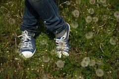 Posera benen Fotografering för Bildbyråer