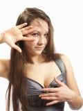 posera för brunett Royaltyfri Bild