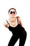 posera för brunettglam Fotografering för Bildbyråer