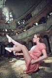 posera för dansare för balett kyrkligt Arkivbild