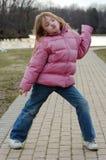 posera för flicka Fotografering för Bildbyråer