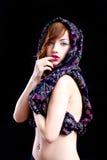 posera för flickaglamour Arkivbilder
