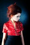 posera för geisha arkivbild