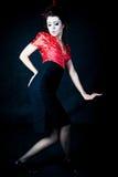 posera för geisha royaltyfri fotografi