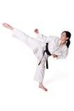 Posera för Karatekvinna Arkivbilder