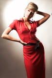 posera för modeflicka Fotografering för Bildbyråer