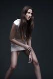 Posera för modell för högt mode royaltyfri fotografi