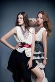 Posera för modemodeller Royaltyfria Foton