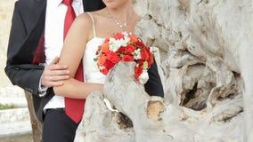 Posera för nygifta personer lager videofilmer