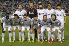 Posera för Real Madrid lag Arkivfoto