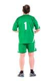 Posera för sportswear för mogen man iklätt grönt Royaltyfria Bilder