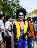 Posera för transvestit för Closeup oidentifierat Arkivfoto