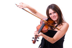 posera fiol för spelare Fotografering för Bildbyråer