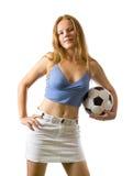 posera fotboll för bollkalle Arkivfoton