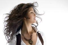 posera för skönhetmodell som är stilfullt Fotografering för Bildbyråer
