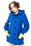 posera kvinna för blått lag Royaltyfria Foton