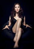 posera kvinna för modemodell Royaltyfria Foton