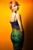posera kvinna för skönhet Fotografering för Bildbyråer