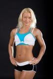 posera sexig sportswoman Royaltyfri Fotografi