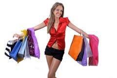 posera shoping Royaltyfria Foton