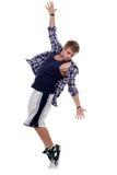 posera spetstoe för dansare Arkivfoto