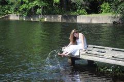 posera sun Fotografering för Bildbyråer