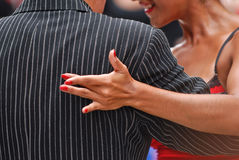 posera tango Royaltyfri Fotografi