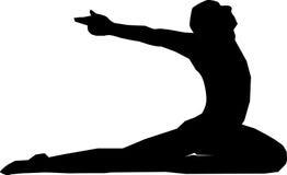 posera yoga Arkivfoto
