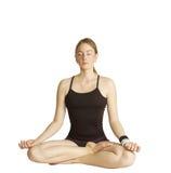 posera yoga Arkivbilder